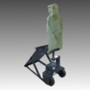 PT-61 BALLISTIC SHIELD WITH AIRLESS WHEELS